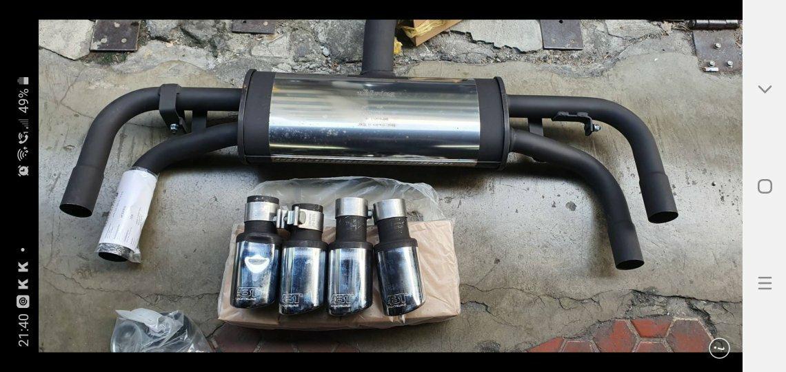 GOLF GTI 6代 ABT尾段排氣管組 全新品 出清價