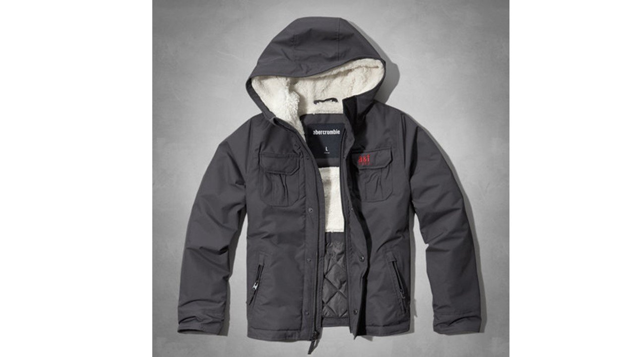 零碼~Abercrombie kids - sherpa lined nylon jacket 男童防風鋪棉保暖外套