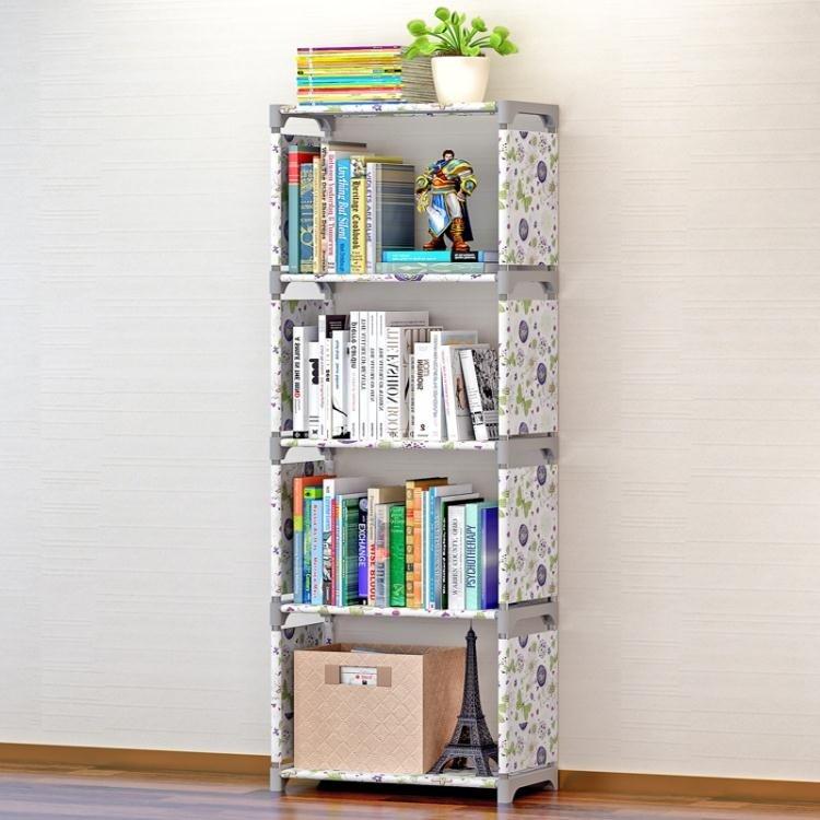 索爾諾簡易書架  書櫃置物架落地層架子兒童學生書櫥