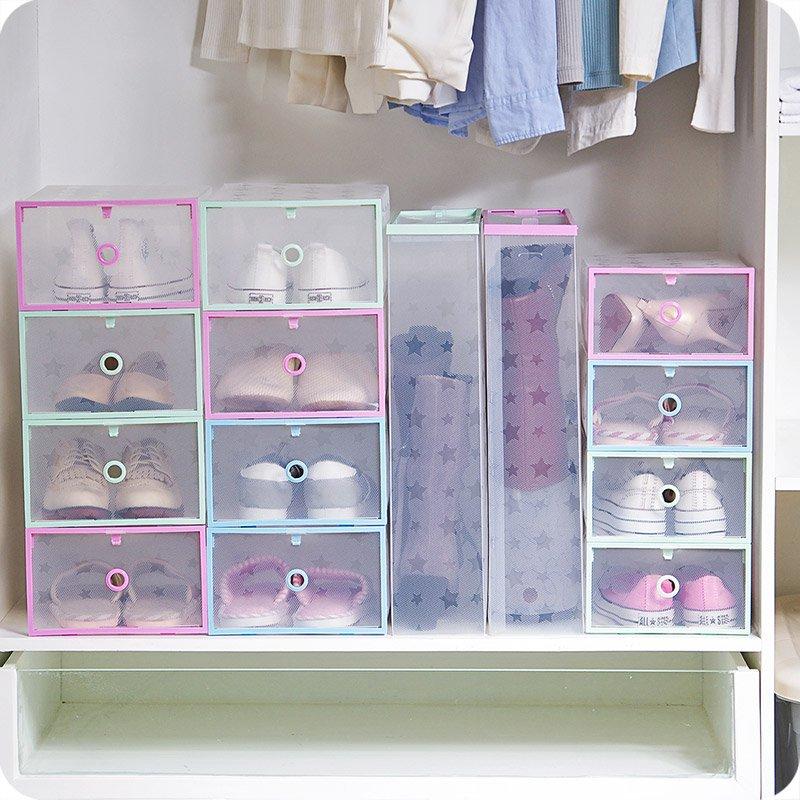居家加厚透明塑料鞋盒男女鞋子收納盒簡易 鞋盒子防塵收納箱整理箱