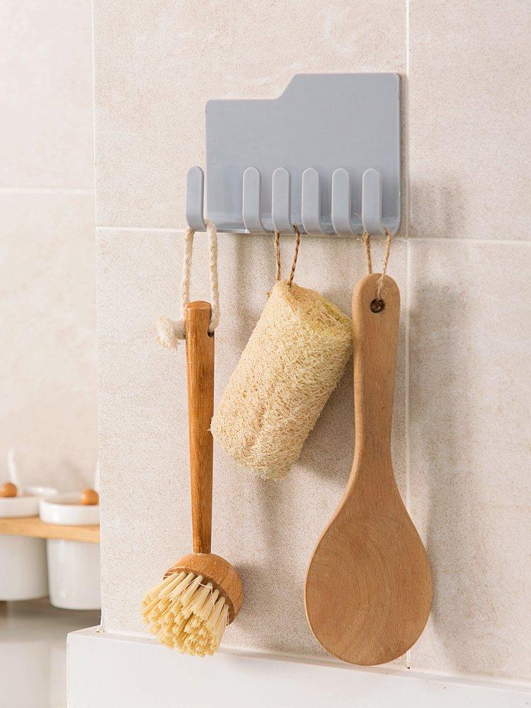 居家居家家 粘膠鋸齒掛鉤廚房廚具掛架 浴室墻壁置物架免打孔無痕粘鉤