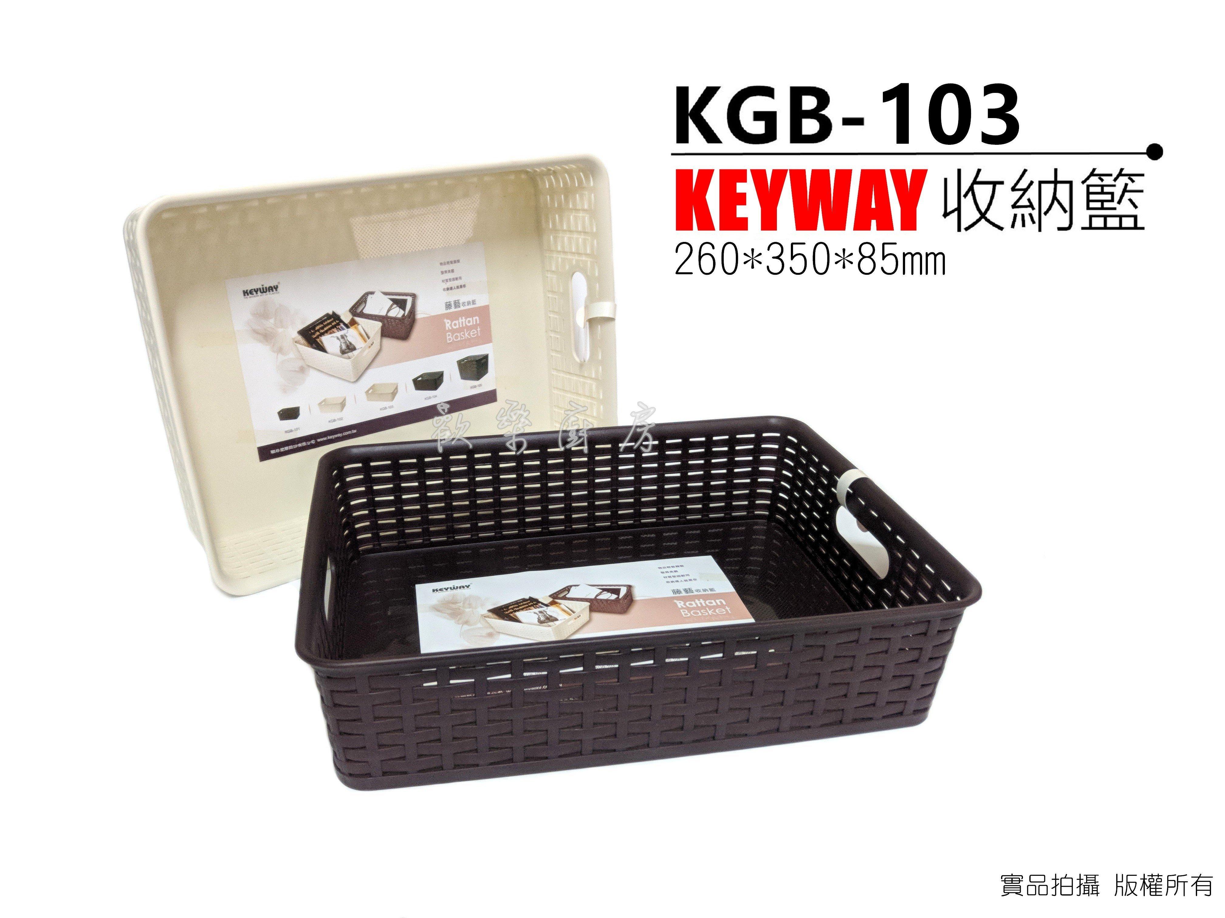 [歡樂廚房] KEYWAY 聯府 KGB-103 藤藝收納籃 藤編 多用籃