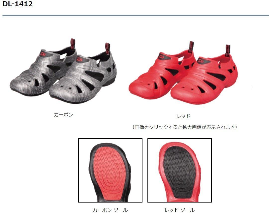 五豐釣具-DAIWA  2017最新款防滑甲板包覆性涼鞋紅色DL-1412特價1100元