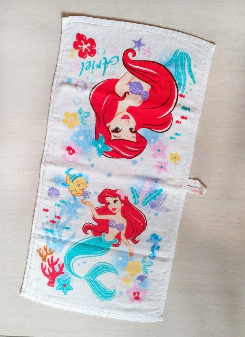 [ - ] 迪士尼 小美人魚艾莉兒 雙層紗布棉毛巾 擦手巾