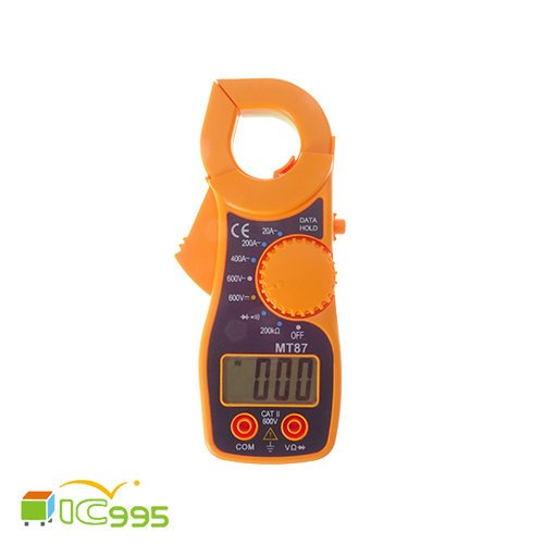 (ic995) MT87 鉗形 萬用電表 鉤錶 數顯 三用電表 帶蜂鳴 迷你型 #1465