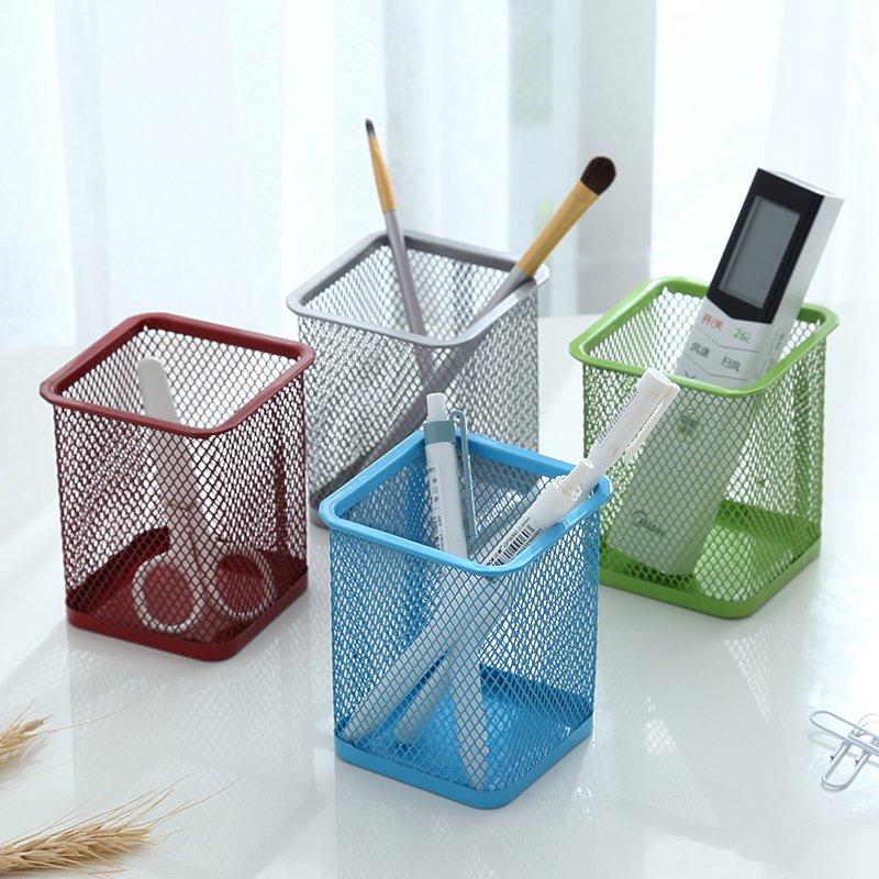 收納家居!!! 多 筆筒學生桌面圓形筆桶收納盒工具辦公文具用品擺件