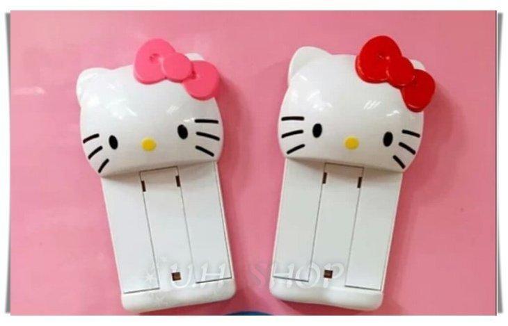 【 U.H SHOP】HELLO KITTY 凱蒂貓 面紙收納吸盤伸縮置物夾