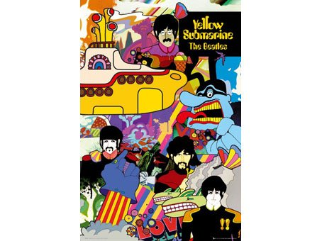 海報 英國 海報 LP1394(披頭士-黃色潛水艇)