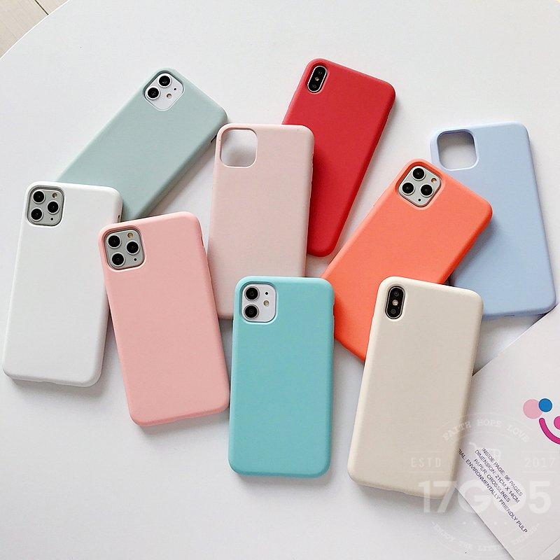純色 液態矽膠 超薄抗污 防摔手機殼 iPhone7 8 plus 蘋果手機殼 時尚單色 親膚手感