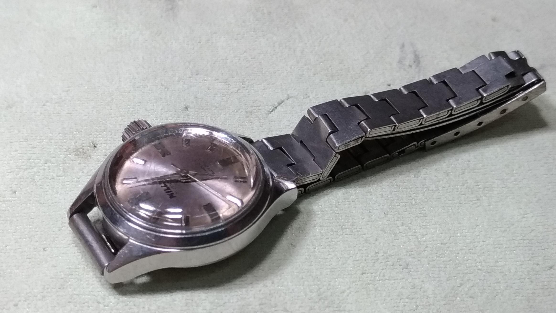 瑞士製造 70年代 古董 機械手上鍊女錶 全不鏽鋼 全部整理完成 類似 勞力士 SEIKO 星辰錶 浪琴錶 OMEGA