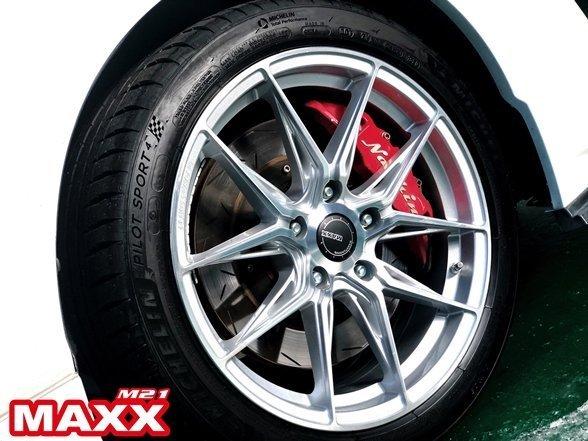 全新 MAXX M21 M-21 18吋旋壓鋁圈 銀 5孔100 5孔108 5孔112 5孔114.3 8.5J