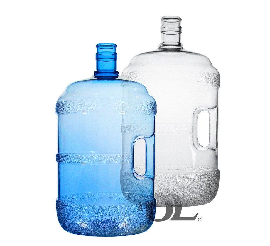 【艾瓦得淨水】台灣製造PC蒸餾水桶5加侖20公升送聰明蓋 - 把手~食品級原料~桶裝水~藍色/透明水桶