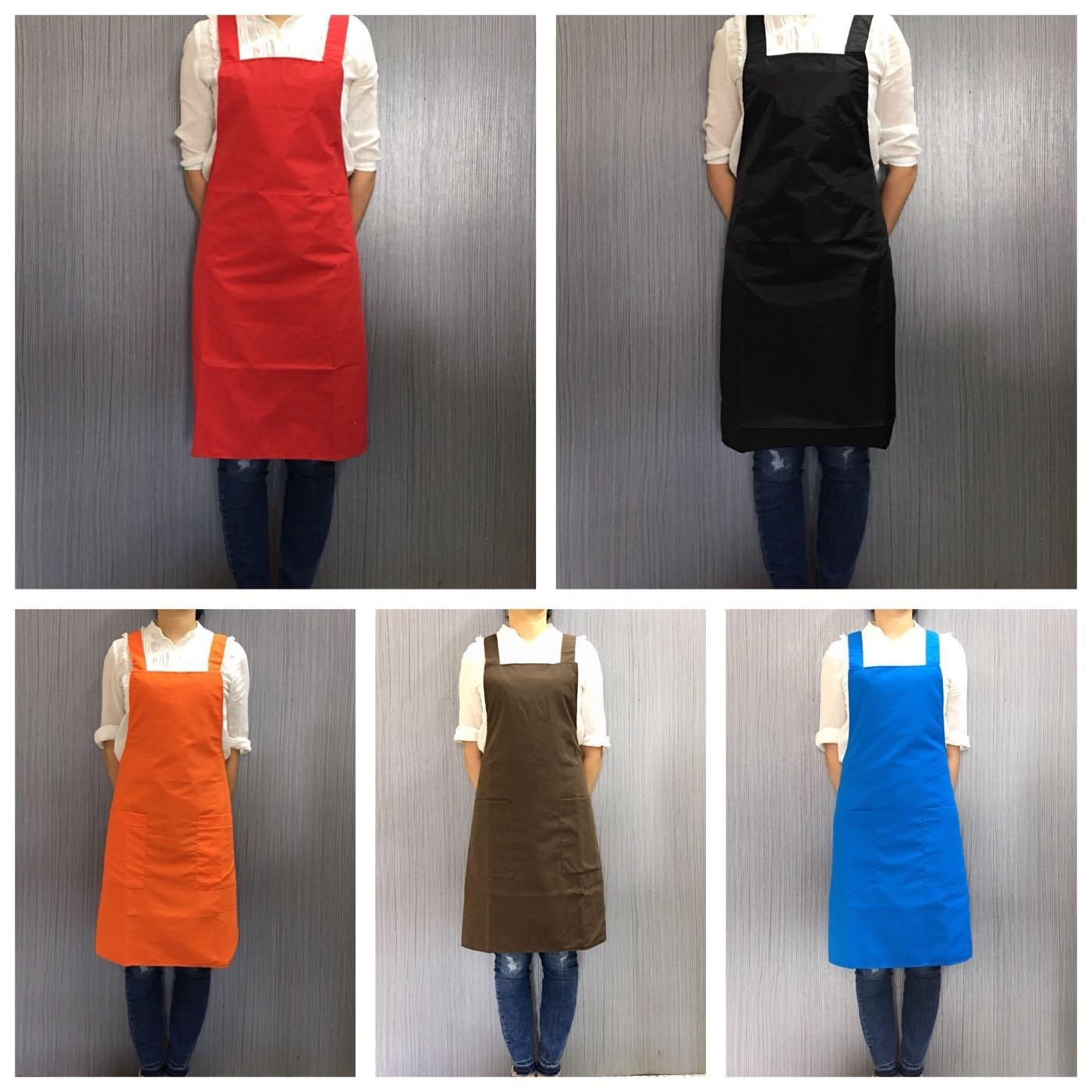 巨星 日本款H型綁帶圍裙 雙層兩口袋 工廠直銷 台灣製 (可代印刷電繡)