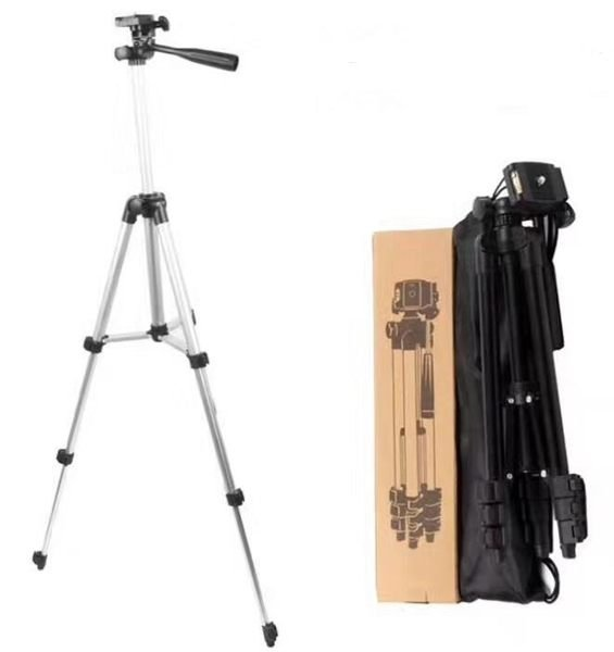 【柑仔舖】影音專賣 130CM 鋁合金三腳架 直播腳架 360°立體雲台 伸縮腳架 中軸升降 鎖腳墊片 攝影腳架 投影機