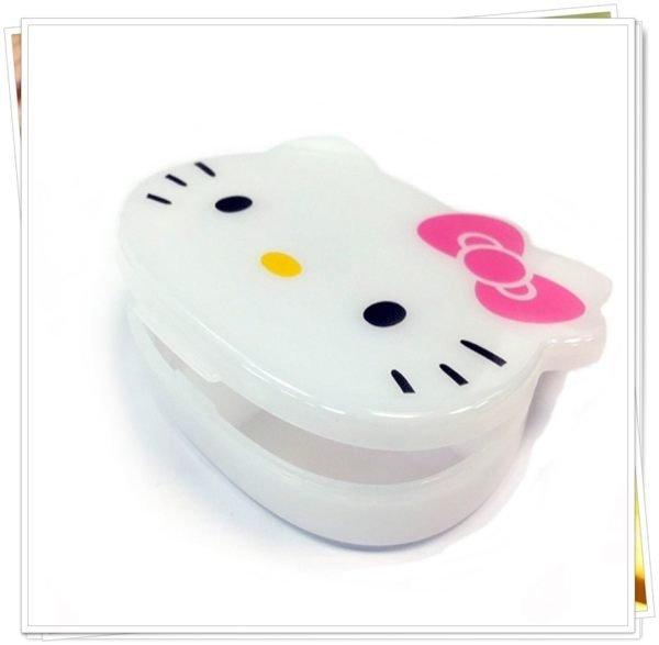 KITTY 可愛臉型 4格 分類 收納盒 飾品盒 置物盒 小藥盒