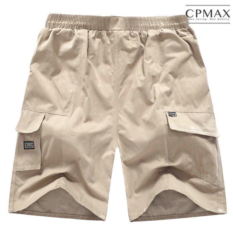 CPMAX 透氣薄款寬鬆多口袋五分褲 超彈力伸縮加鬆緊帶 大 五分褲 男短褲 五分短褲 工作短褲 海灘褲 K52