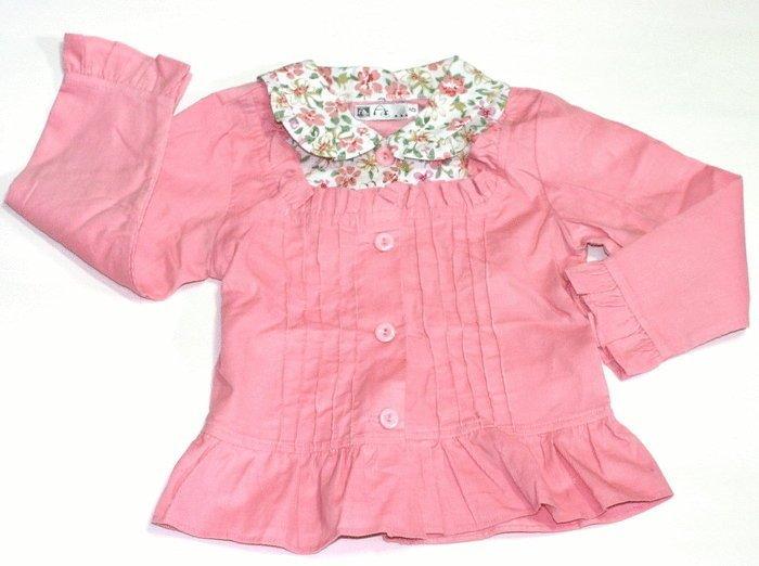 款 ☆╮典雅花朵女童長袖襯衫100.110cm( ) ╭☆Q-BABY 嬰