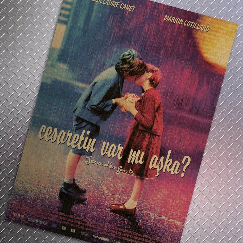 【貼貼屋】兩小無猜 懷舊復古 牛皮紙 海報 壁貼 店面裝飾  電影海報 229