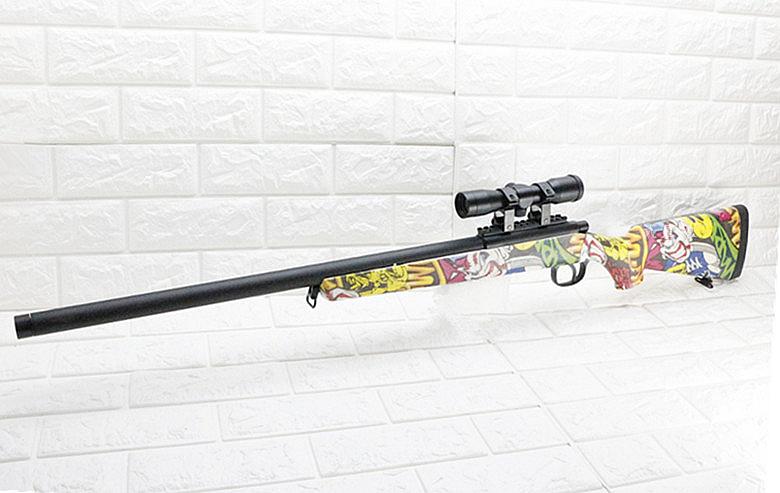 台南 武星級 BELL VSR 10 狙擊槍 手拉 空氣槍 狙擊鏡 彩色( 倍鏡瞄準鏡MARUI BB槍BB彈玩具槍長槍