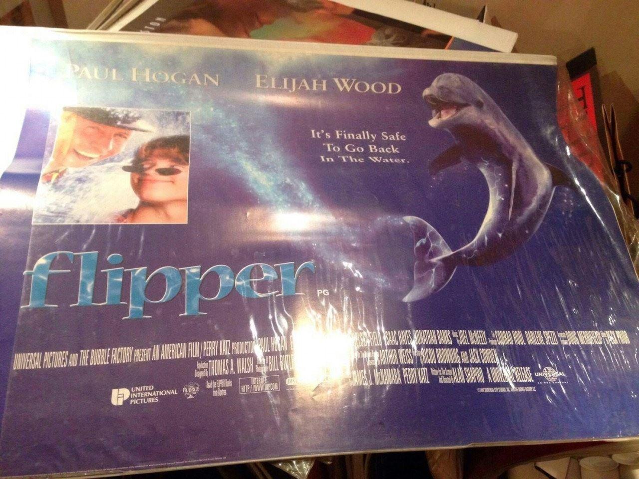 飛寶-Flipper (1996) 英橫版海報