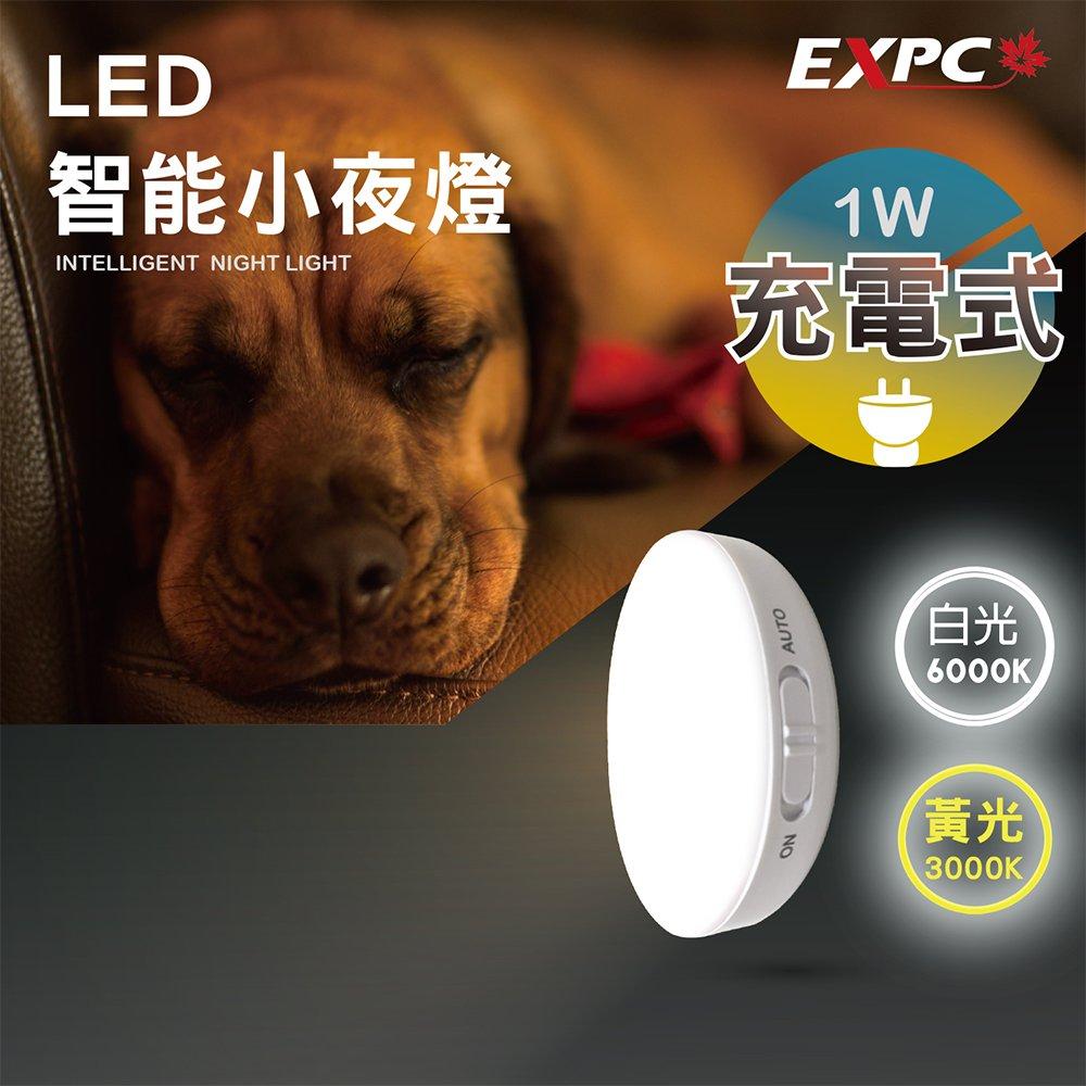 LED 智能小夜燈 USB充電 光控感應 人體感應燈 小夜燈 玄關燈 氛圍燈 走廊燈 廁所燈 LED燈 EXPC