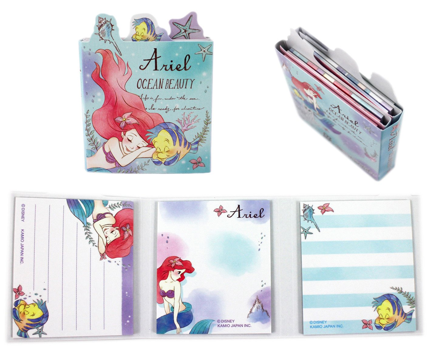 【卡漫迷】 小美人魚 六折 隨意貼 ㊣版 日製  便利貼 便條紙 Ariel 標籤貼 N次貼 Mermaid 愛麗兒