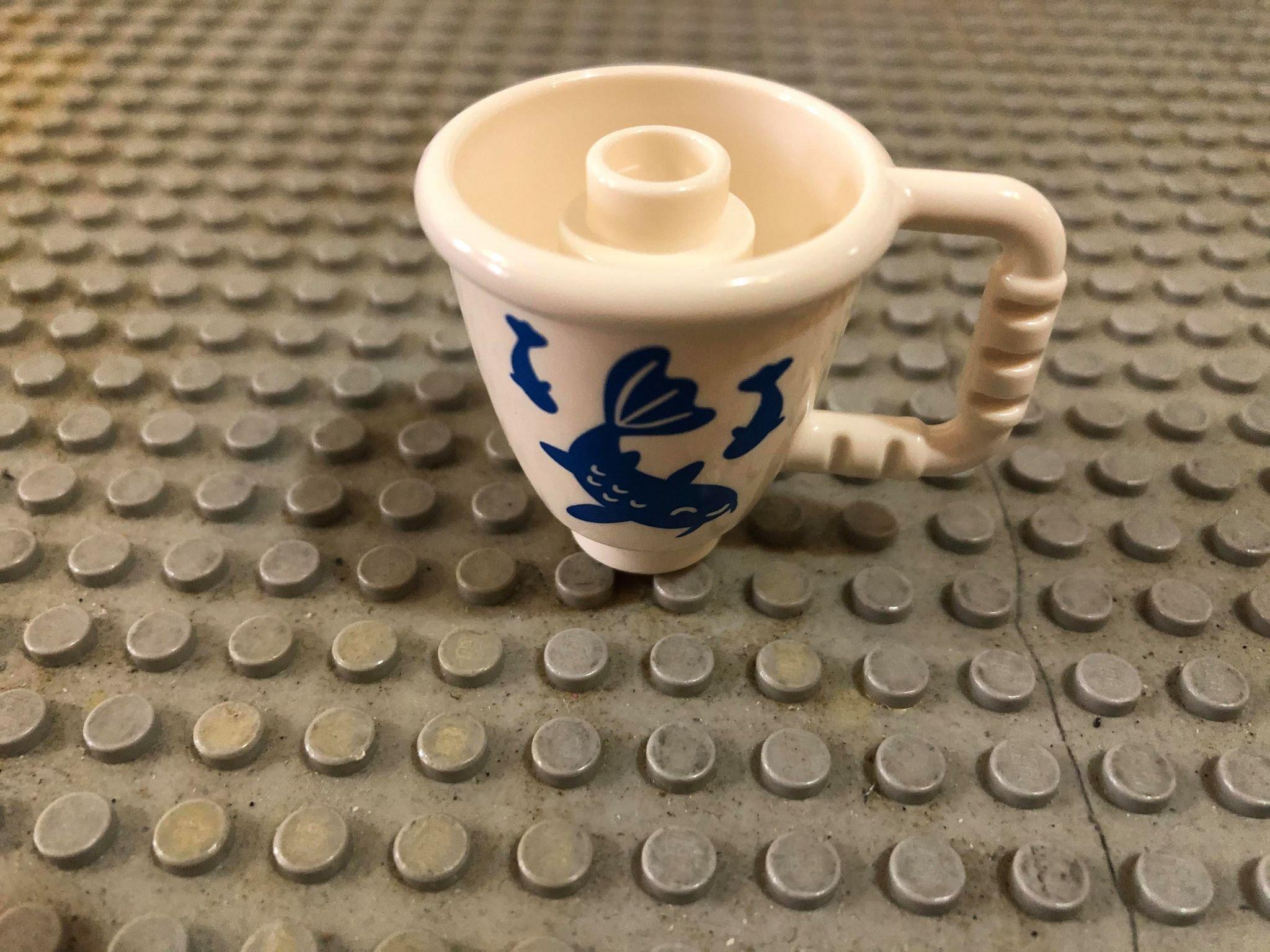 盆栽【點點小豆】lego 樂高積木 DUPLO 得寶 白色 錦鯉 陶瓷杯 水壺 杯子  1 個 如圖!