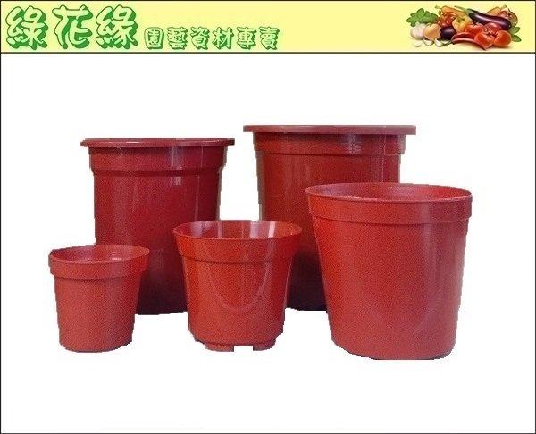{綠花緣} 塑膠紅盆 - 7寸*10個