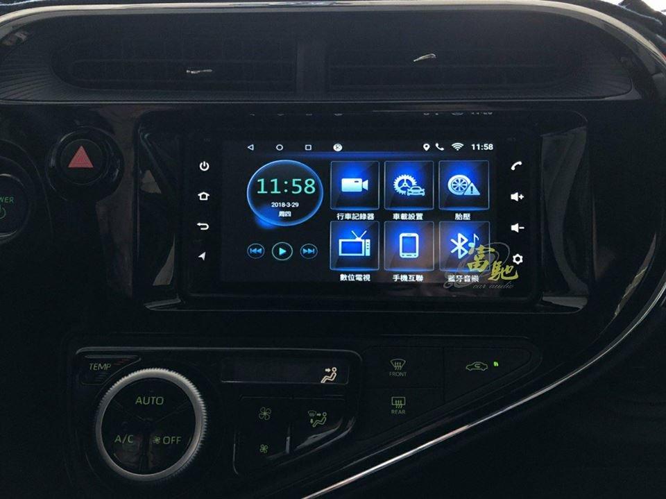 富馳汽車音響Toyota Prius c 改裝專用7吋安卓導航影音主機