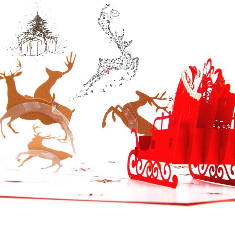 韓系韓國少女萌妹居家百搭潮流裝飾文藝歐式超美 心機款滿減貨到 韓國高檔圣誕節賀卡立體3D 紙雕定制明信片禮