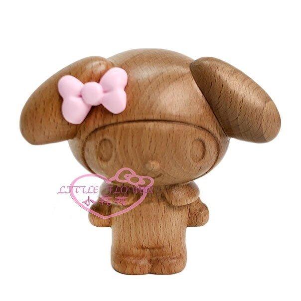 ♥小花凱蒂 ♥My Melody 美樂蒂 木質 全身立體 公仔 筆筒 原木筆筒 木製筆座 60149305