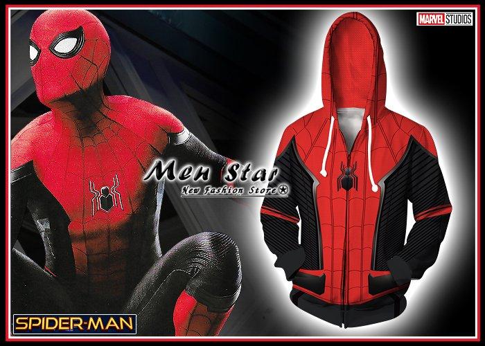 【Men Star】免 蜘蛛人 離家日 蜘蛛戰衣 彈力 外套 連帽外套 衣 外套 媲美 uniqlo nike