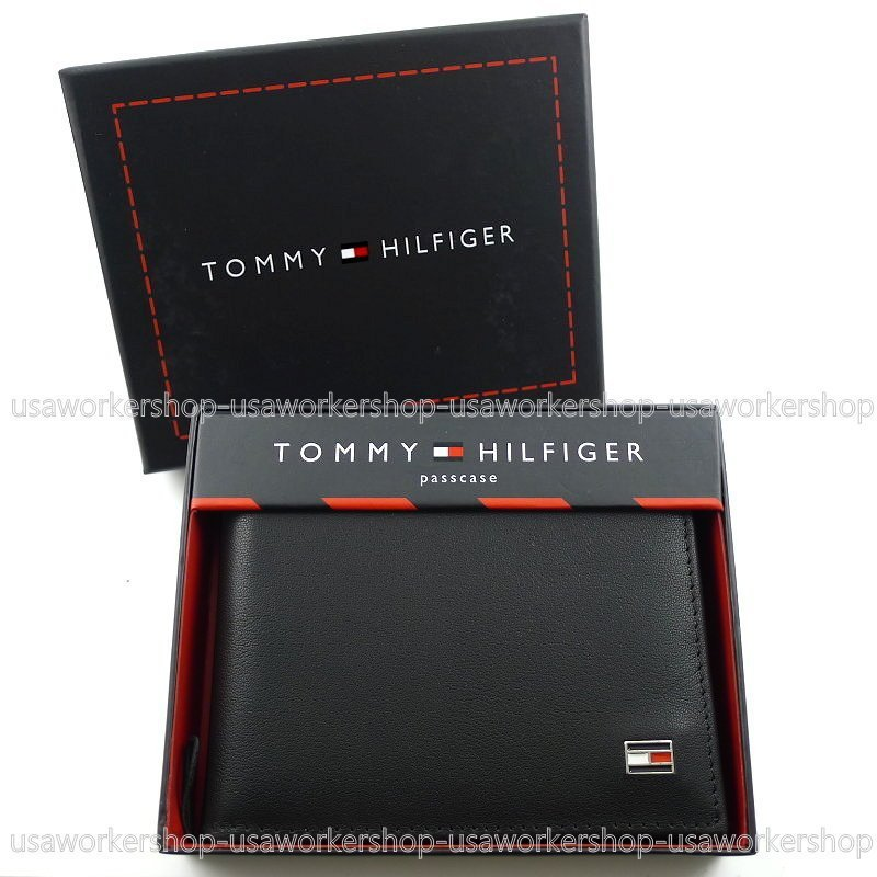 【TOMMY專櫃正品】美國TOMMY HILFIGER 專櫃購入可拆相片夾 零錢袋短皮夾禮盒 男生皮夾 男用