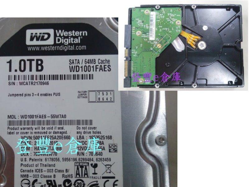 【登豐e倉庫】 F561 黑標 WD1001FAES-55W7A0 1TB SATA3 救資料 當機重開 保存相片