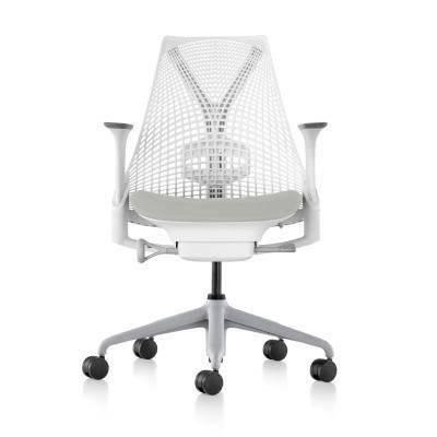 現貨!美國 Herman Miller SAYL 【全功能】人體工學電腦椅 時尚旗艦款 (白背灰椅墊)台北可試坐 網椅