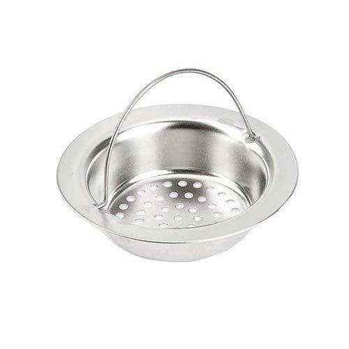 廚房用品 外徑11CM內徑8CM深度2.5CM 提籃式不鏽鋼流理台水槽濾網HD1011