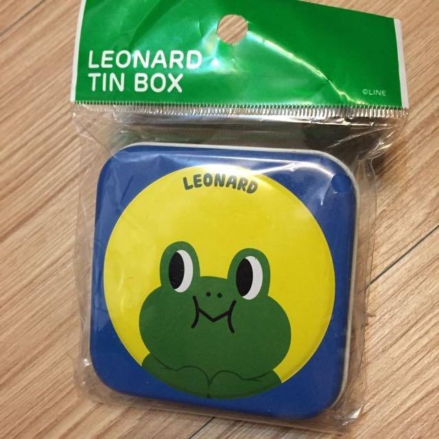 ⓜⓐⓘ ⓜⓐⓘ 桑---韓國  LINE FRIENDS 青蛙雷納多Loenard 鐵盒 置物盒 收納盒