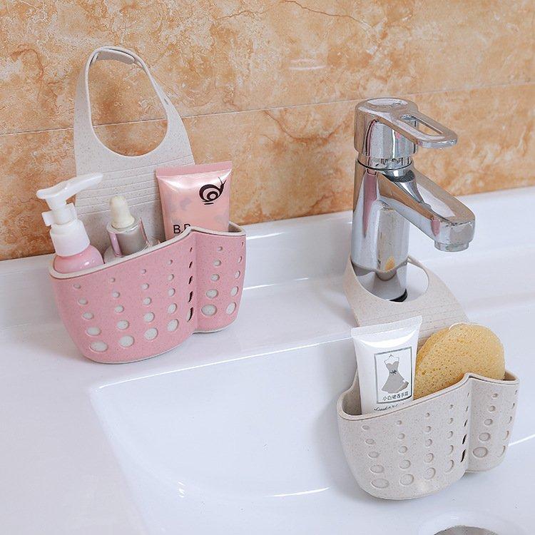 廚房 收納廚房用品水槽瀝水架水龍頭水池掛袋壁掛收納掛架瀝水籃宜家置物架