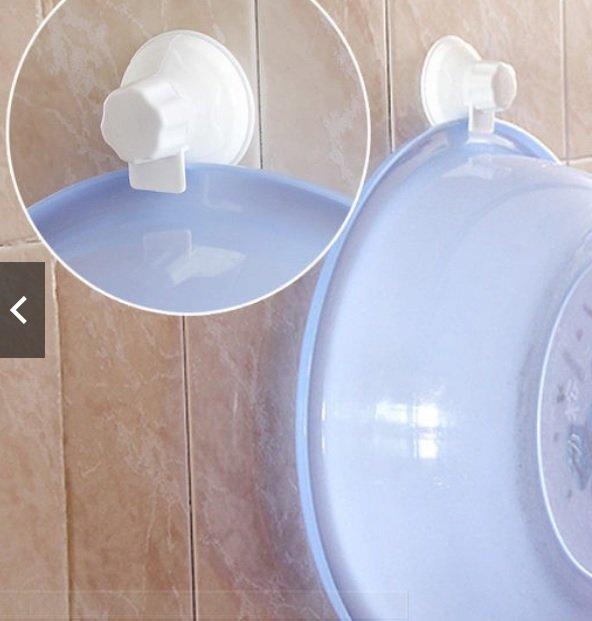 吸盤式臉盆掛鉤(兩入) 牆面 無痕 澡盆 盆扣 盆夾 免釘 廚房 衛浴 洗澡