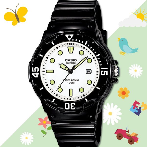 CASIO 手錶專賣店 LRW-200H-7E1 女錶 兒童錶 防水100米 日期 可旋轉錶圈 膠質錶帶