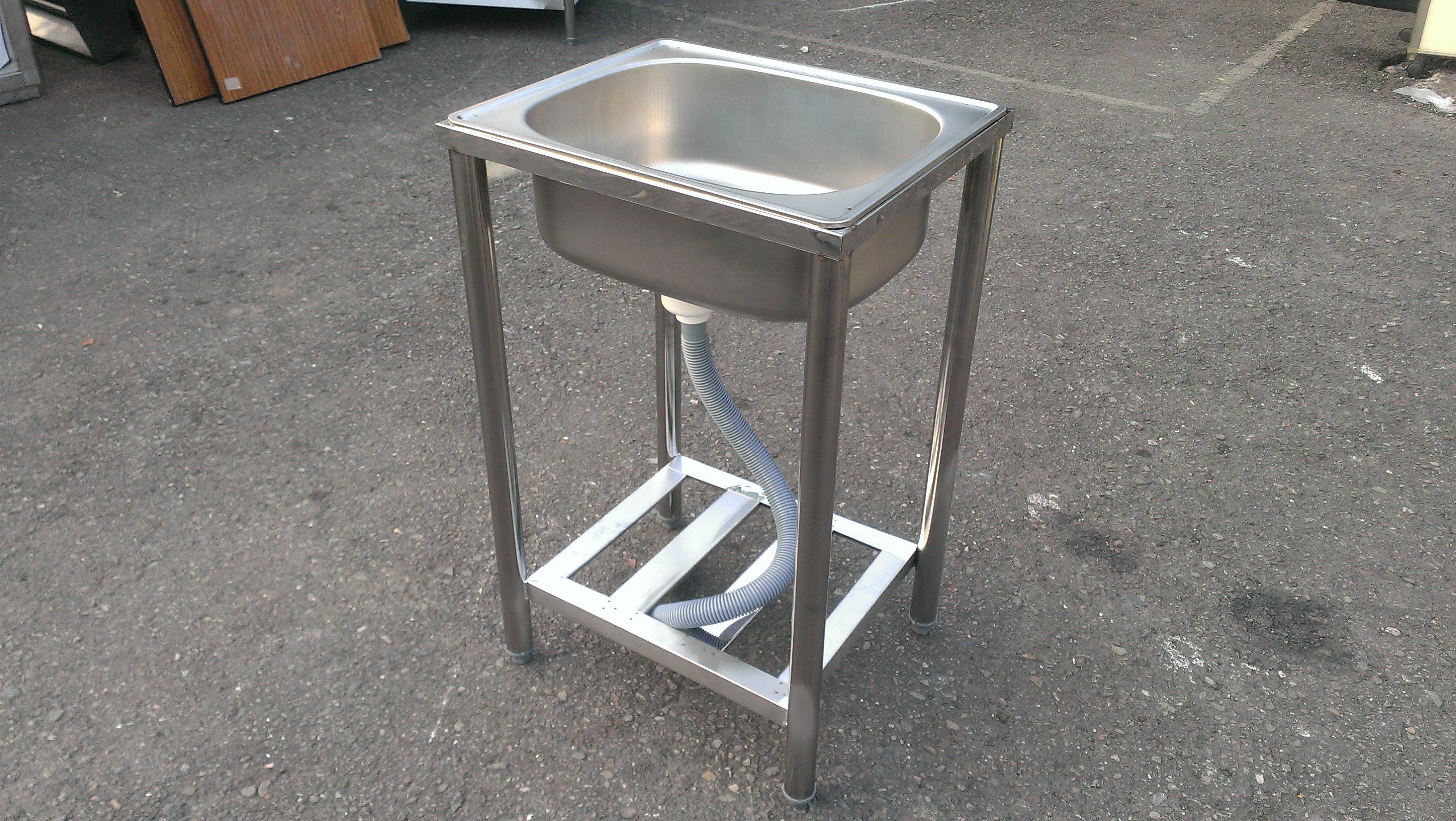 大台南冠均二手貨--全新 304#台面 49cm 單孔水槽 洗手槽 洗菜槽 洗碗工作槽 流理台 *工作台/攤車/餐飲設備