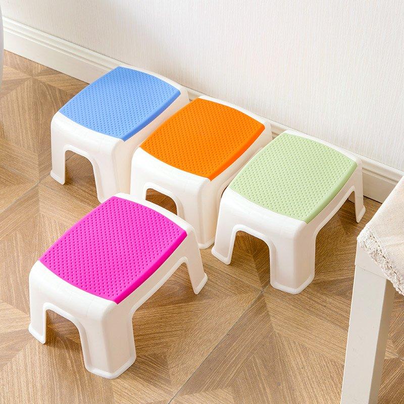 品如衣櫃 洗衣袋 地球儀 居家家 塑料小板凳兒童加厚凳子方凳 浴室寶寶矮凳成人家用防滑凳