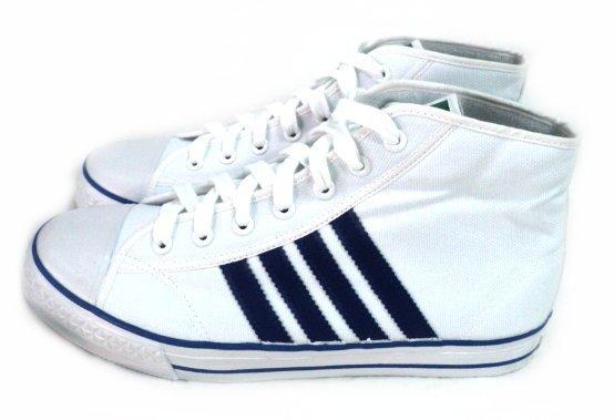 美迪-中國強-CH88小半筒帆布鞋-50周年紀念款~台灣製~白藍