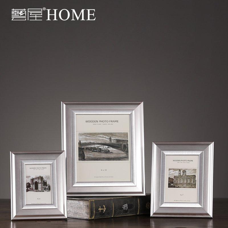 〖洋碼頭〗現代簡約實木相框擺件 家居客廳書房臥室裝飾品擺設 樣板間軟裝 ywj445