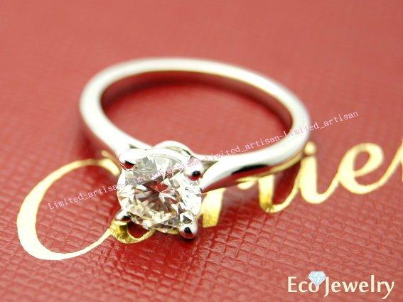《Eco-jewelry》【Cartier】卡地亞經典四爪1.03克拉G colorVS13EX鑽石戒指~專櫃真品近新品