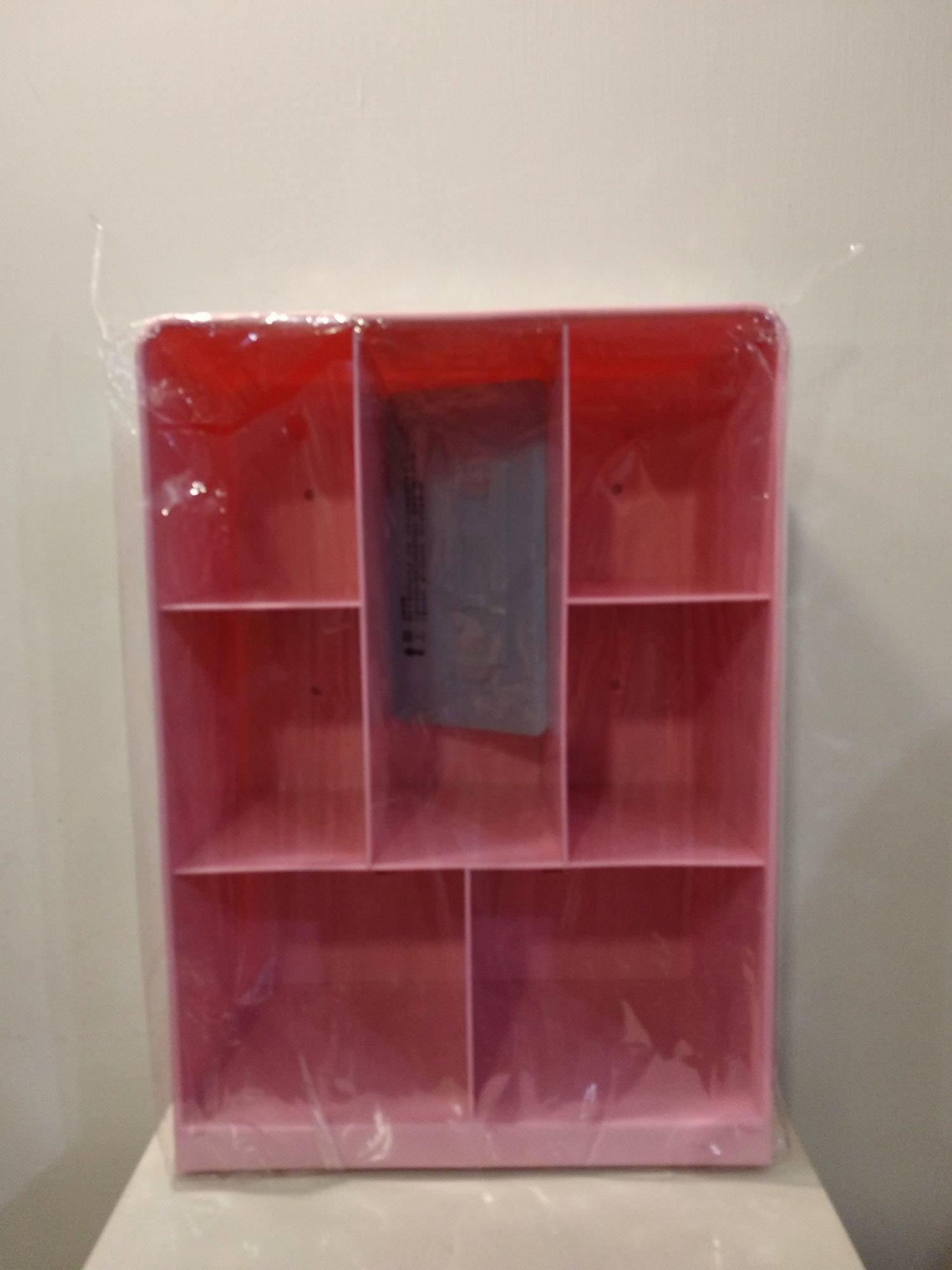 7分隔 粉藍 粉紅 置物架壁掛置物架 小收納櫃