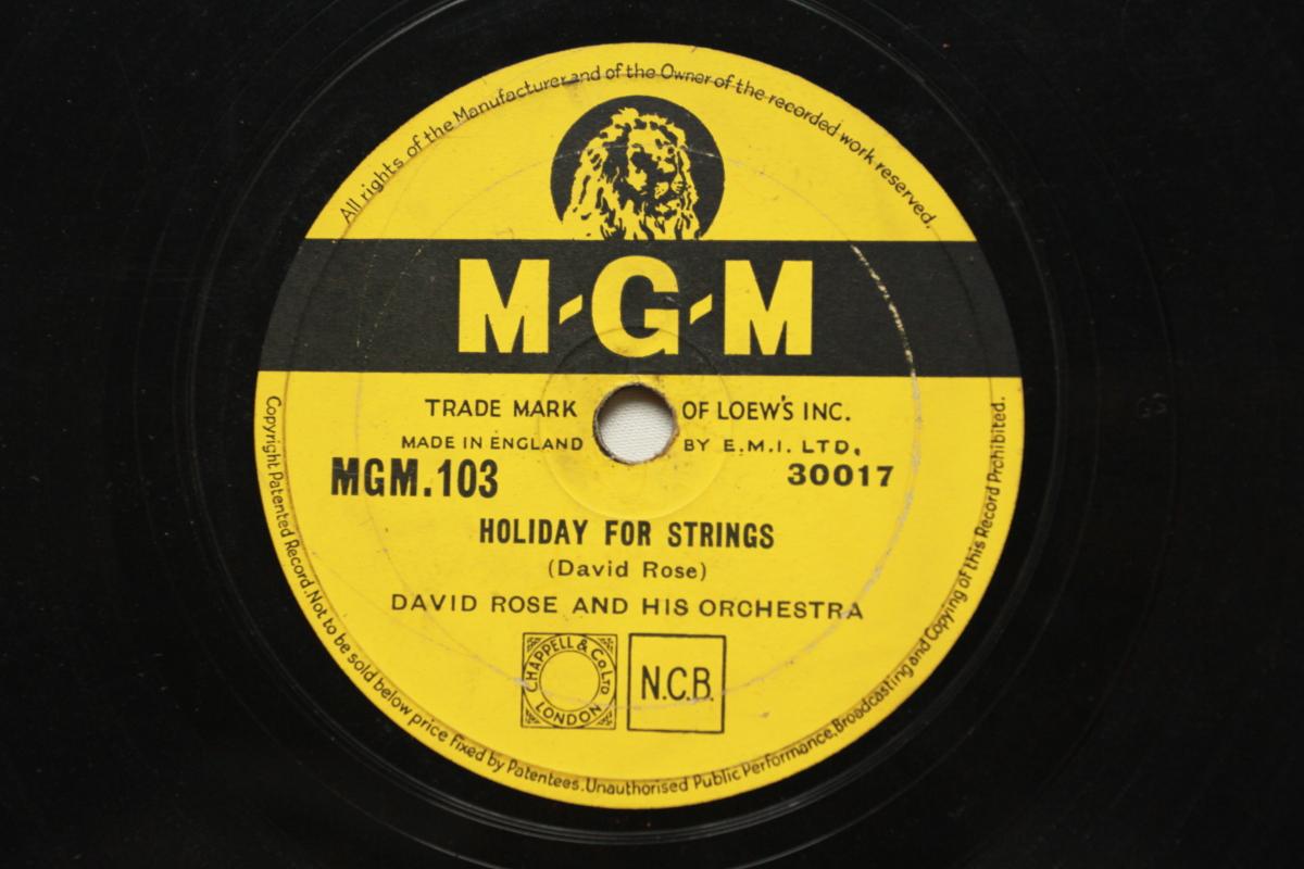 《Holiday for Strings》78轉 10吋 蟲膠唱片 電木唱片