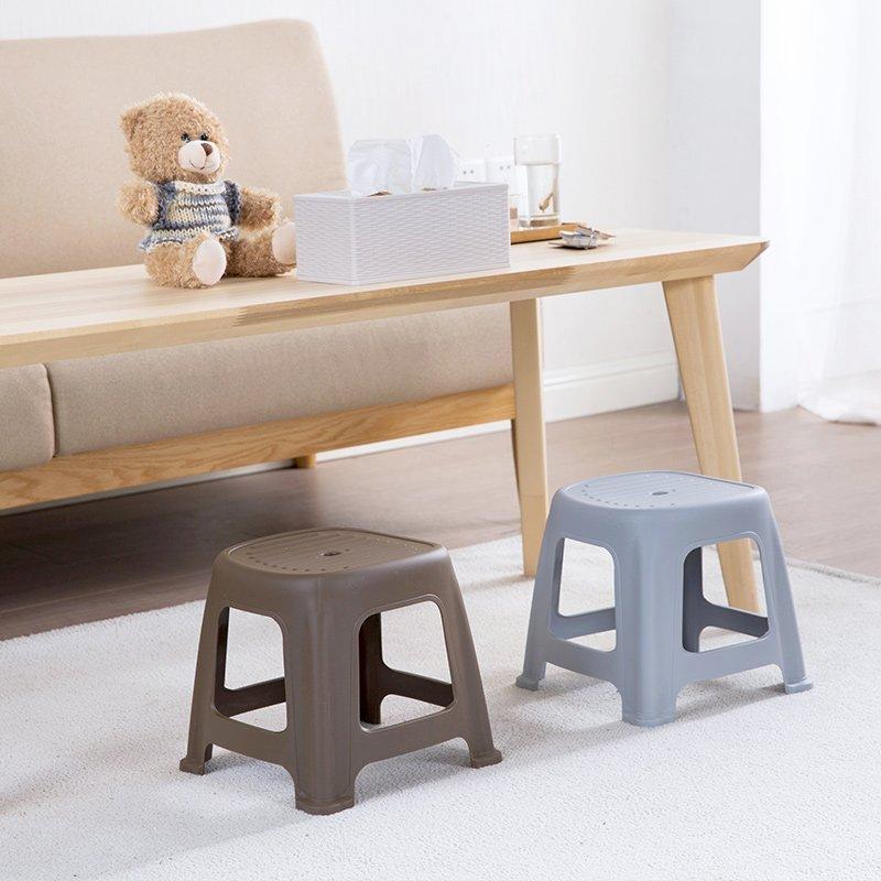 品如衣櫃 洗衣袋 地球儀 居家家 塑料加厚凳子家用客廳成人換鞋凳 浴室兒童小板凳方凳矮凳