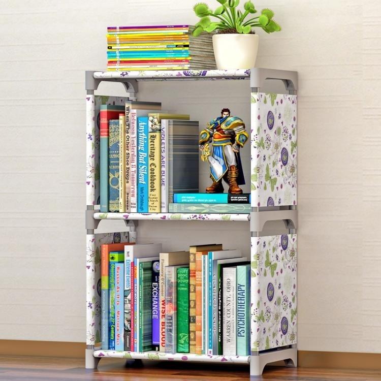 簡易書架書櫃置物架 層架子落地兒童書櫥WY 尾牙