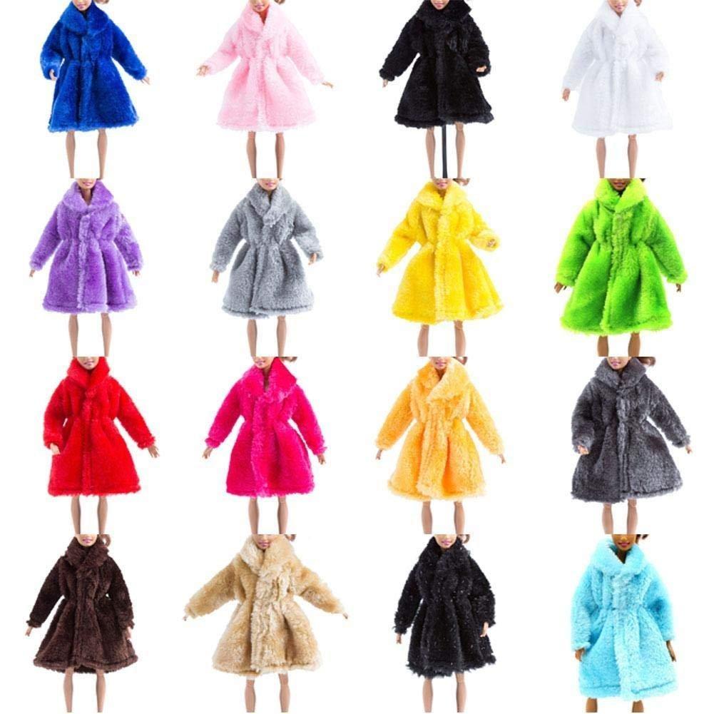 芭比 冬季 毛皮 絨毛 大衣 時尚 時裝 外套 莉卡 FR 娃娃 小布